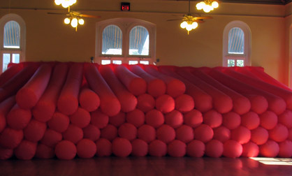 Inflatable installation at the Laredo Center for the Arts