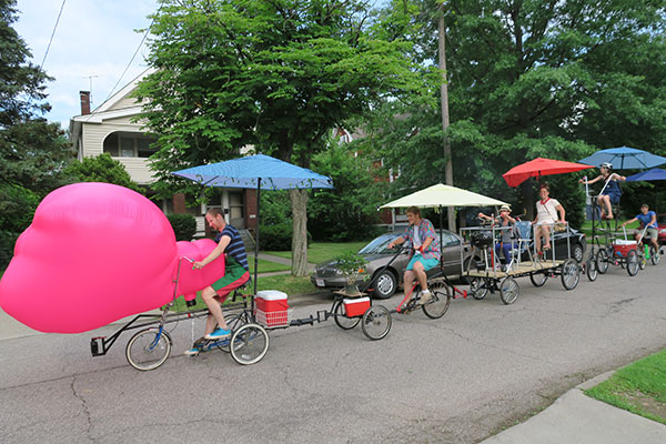 BBQ Bicycle by Jimmy Kuehnle at Larchmere Porchfest in Cleveland Ohio