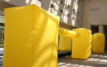 Air to Air Communication inflatable installation sculpture