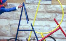 ART Bike outside the San Antonio Museum of Art.