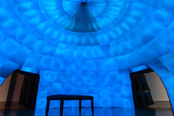 Site-specific interactive inflatable with sound at the Columbia Museum of Art
