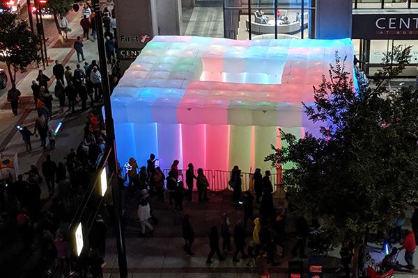 Inflatable sculpture installation BLINK 2019 Cincinnati, Ohio