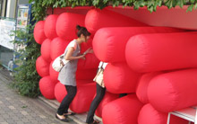 Inflatable installation that viewers can enter