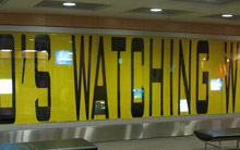 Surveillance video installation at the San Antonio International Airport